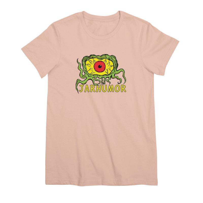 JARHUMOR Creeping Eye Women's Premium T-Shirt by JARHUMOR