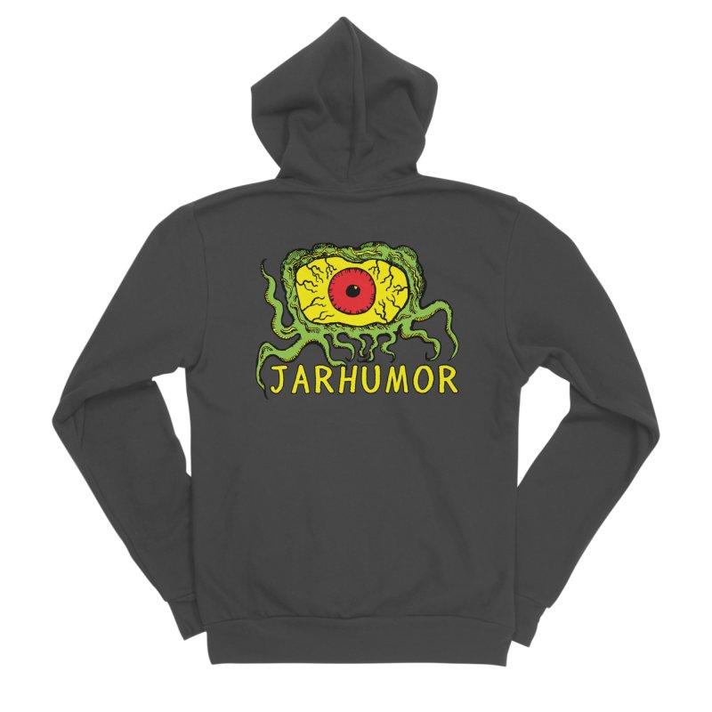 JARHUMOR Creeping Eye Men's Sponge Fleece Zip-Up Hoody by JARHUMOR