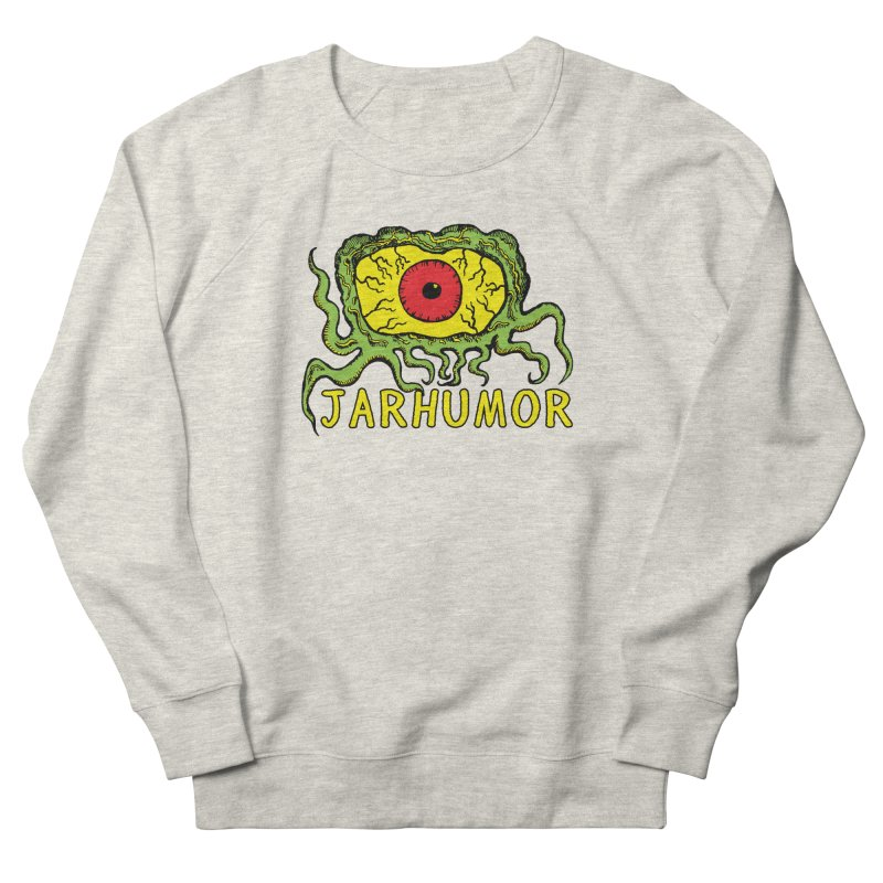 JARHUMOR Creeping Eye Women's French Terry Sweatshirt by JARHUMOR