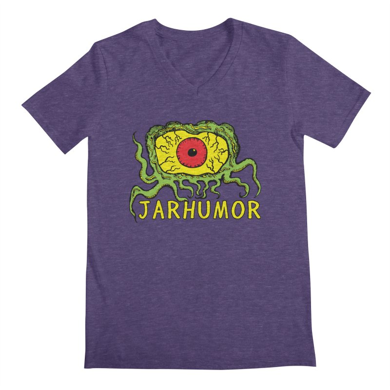 JARHUMOR Creeping Eye Men's Regular V-Neck by JARHUMOR