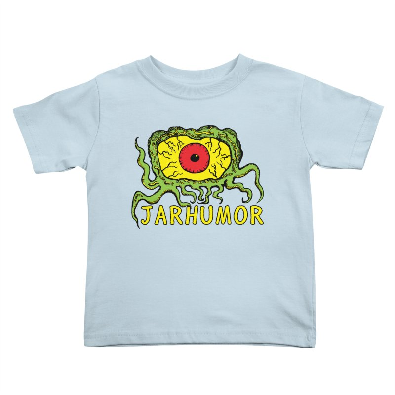 JARHUMOR Creeping Eye Kids Toddler T-Shirt by JARHUMOR