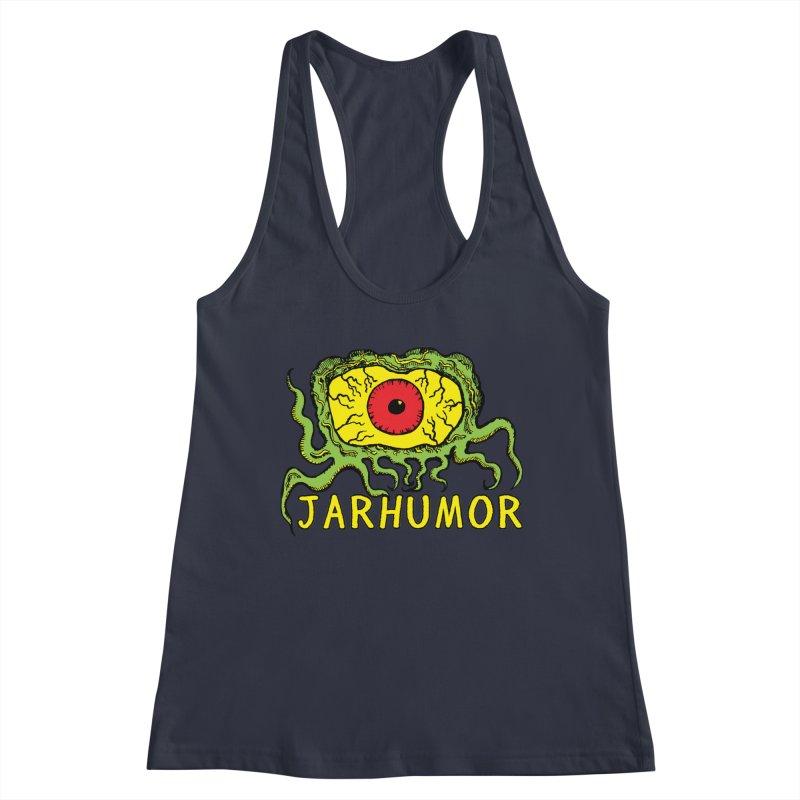JARHUMOR Creeping Eye Women's Racerback Tank by JARHUMOR
