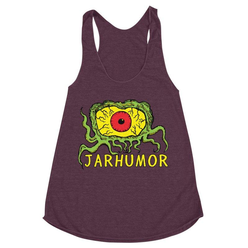 JARHUMOR Creeping Eye Women's Racerback Triblend Tank by JARHUMOR