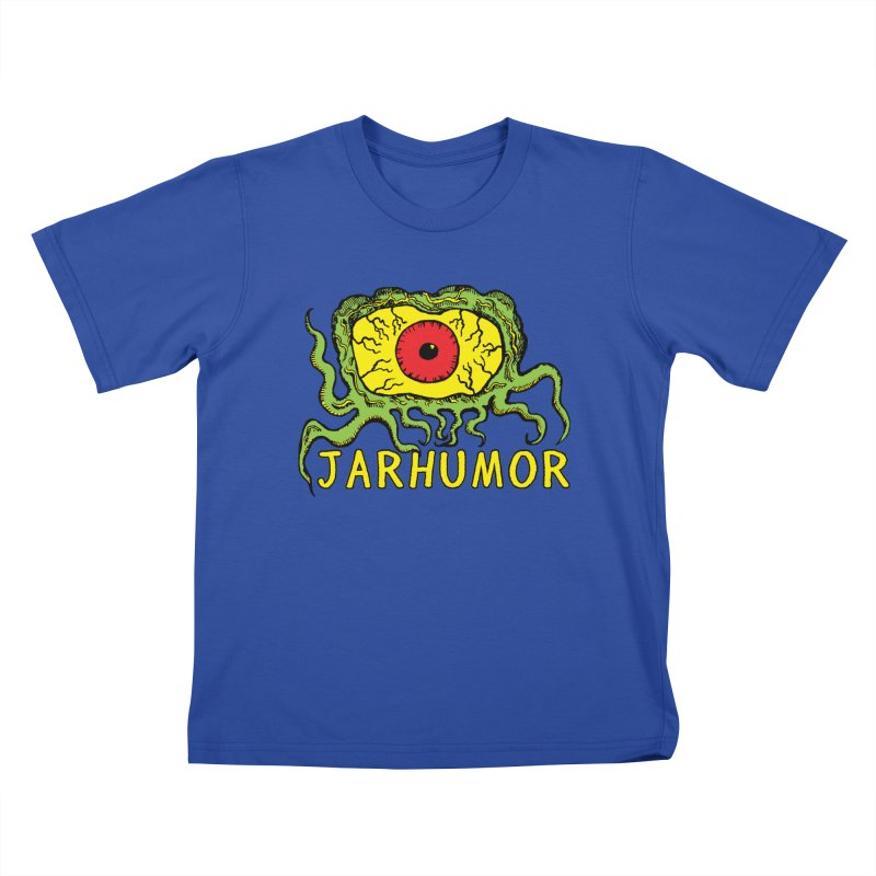 JARHUMOR Creeping Eye Kids T-Shirt by JARHUMOR