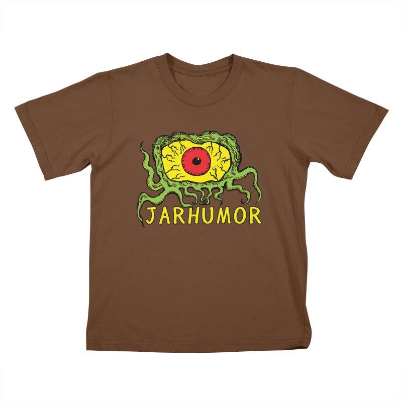 JARHUMOR Creeping Eye Kids T-Shirt by JARHUMOR