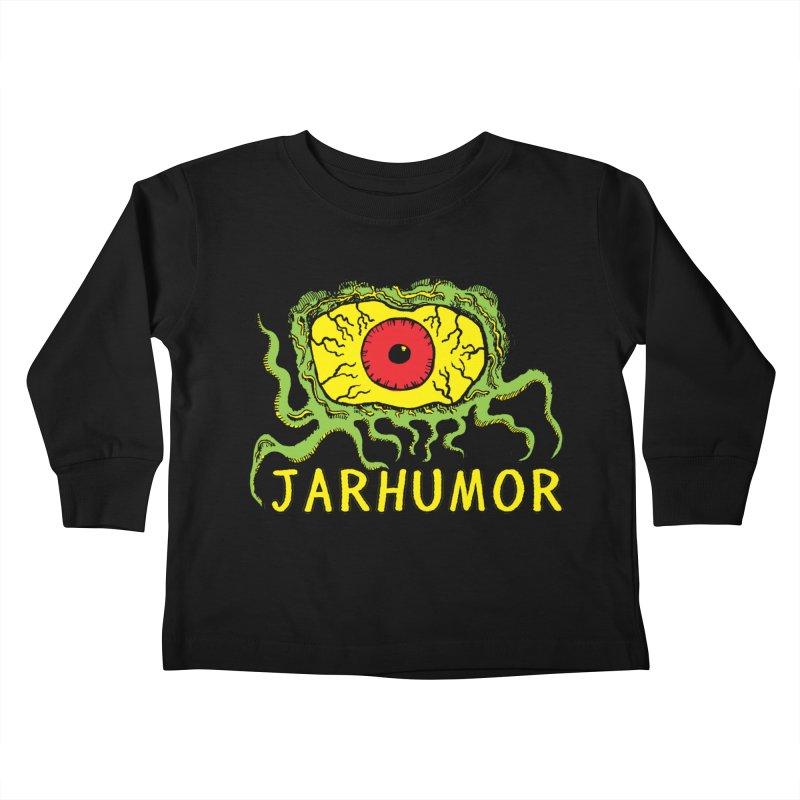 JARHUMOR Creeping Eye Kids Toddler Longsleeve T-Shirt by JARHUMOR
