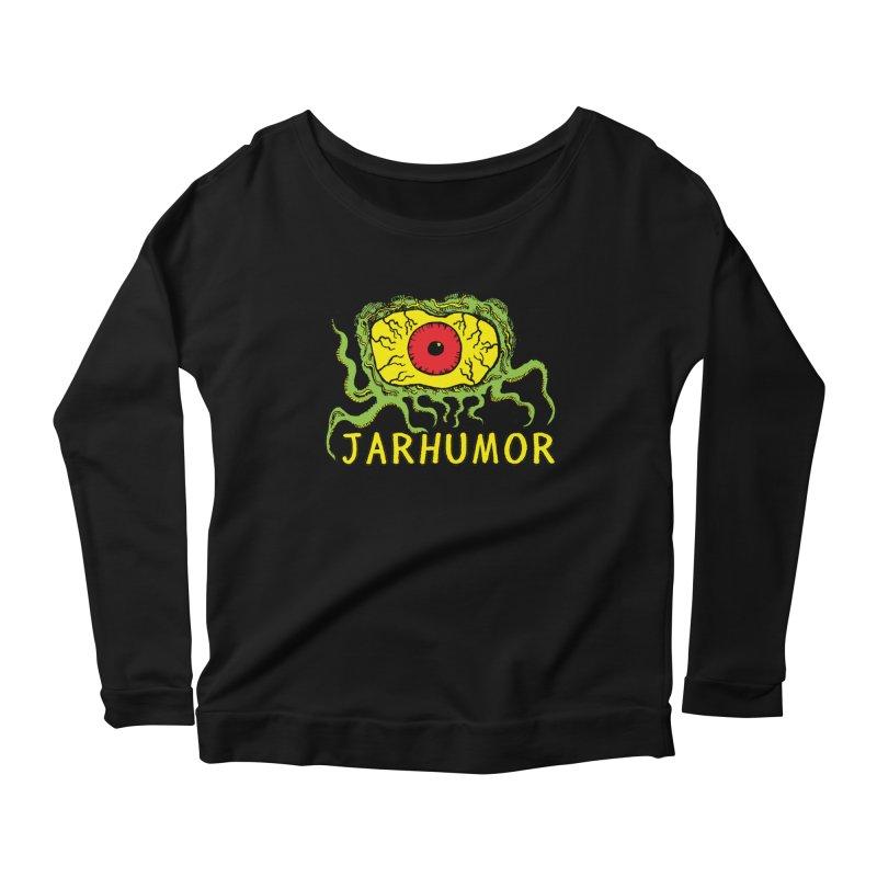 JARHUMOR Creeping Eye Women's Scoop Neck Longsleeve T-Shirt by JARHUMOR