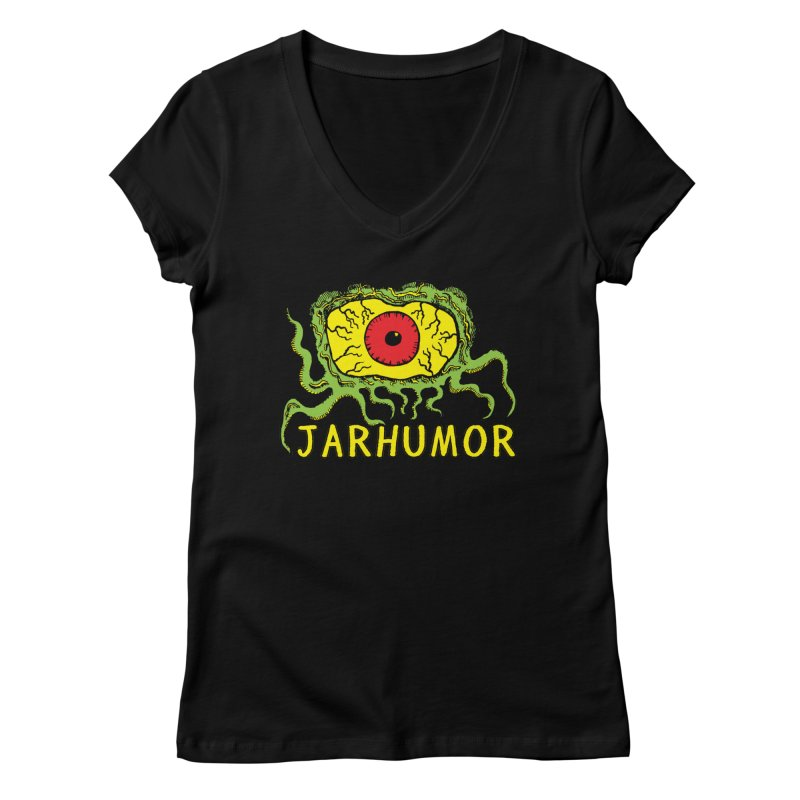 JARHUMOR Creeping Eye Women's V-Neck by JARHUMOR