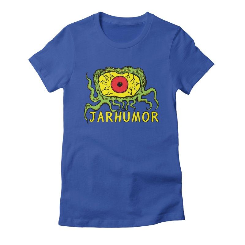 JARHUMOR Creeping Eye Women's Fitted T-Shirt by JARHUMOR