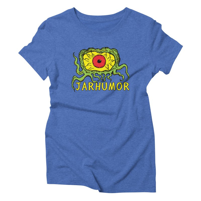 JARHUMOR Creeping Eye Women's Triblend T-Shirt by JARHUMOR