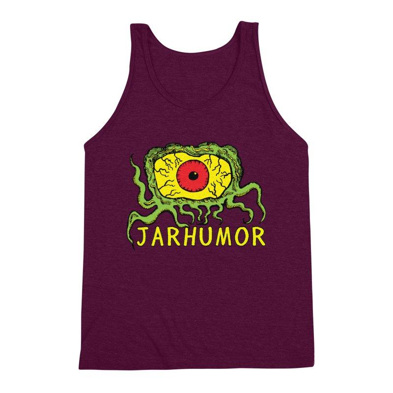 JARHUMOR Creeping Eye Men's Triblend Tank by JARHUMOR