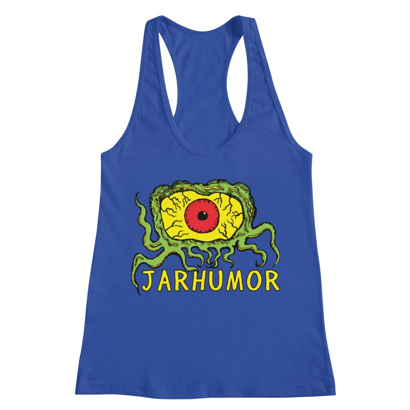 JARHUMOR Creeping Eye Women's Racerback Tank by JARHUMOR