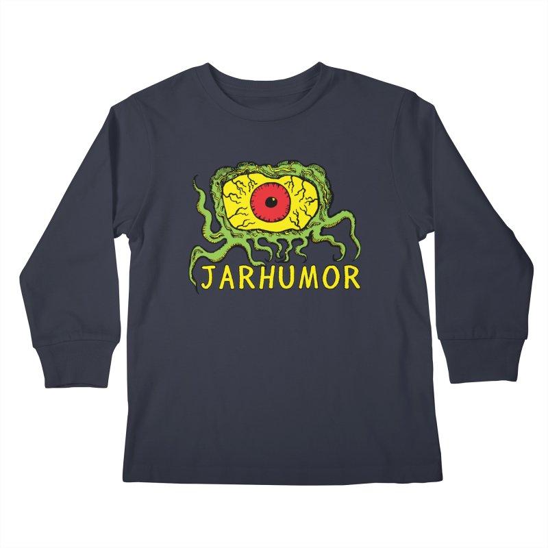 JARHUMOR Creeping Eye Kids Longsleeve T-Shirt by JARHUMOR