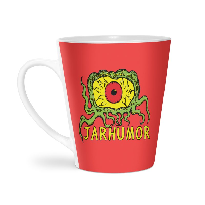 JARHUMOR Creeping Eye Accessories Latte Mug by JARHUMOR