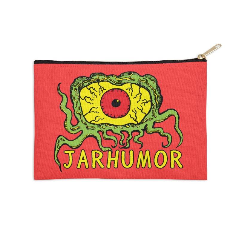 JARHUMOR Creeping Eye Accessories Zip Pouch by JARHUMOR