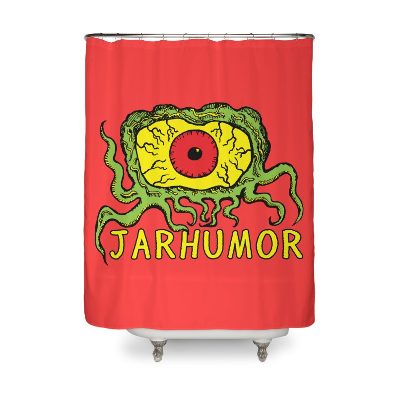 JARHUMOR Creeping Eye Home Shower Curtain by JARHUMOR
