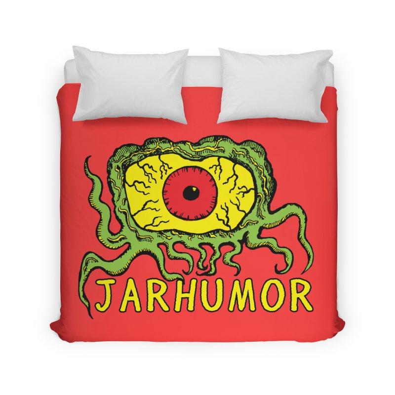 JARHUMOR Creeping Eye Home Duvet by JARHUMOR