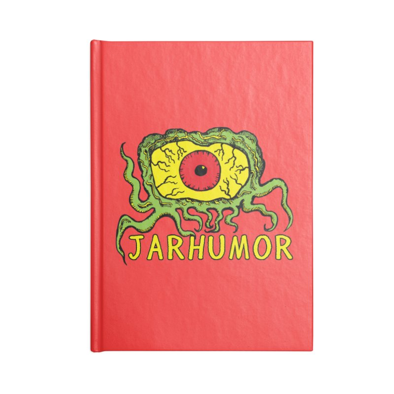 JARHUMOR Creeping Eye Accessories Blank Journal Notebook by JARHUMOR