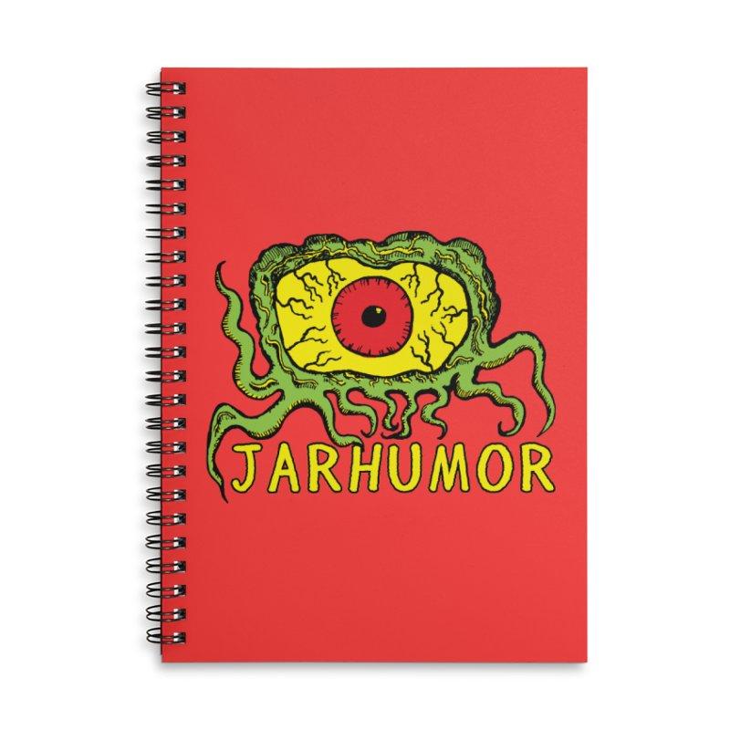 JARHUMOR Creeping Eye Accessories Lined Spiral Notebook by JARHUMOR