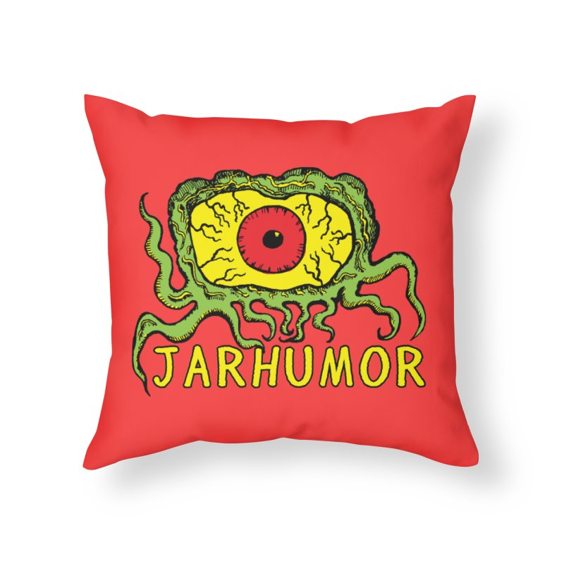 JARHUMOR Creeping Eye Home Throw Pillow by JARHUMOR