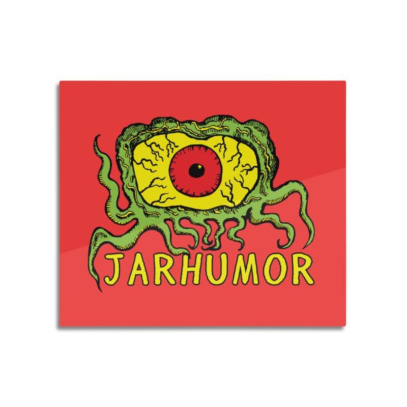 JARHUMOR Creeping Eye Home Mounted Aluminum Print by JARHUMOR