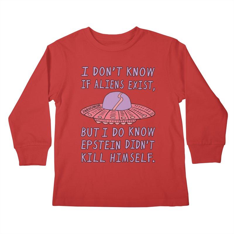 Alien Epstein Kids Longsleeve T-Shirt by JARHUMOR
