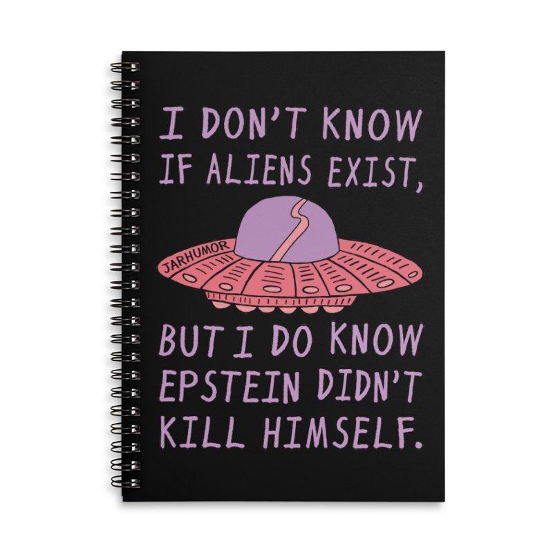 Alien Epstein Accessories Notebook by JARHUMOR