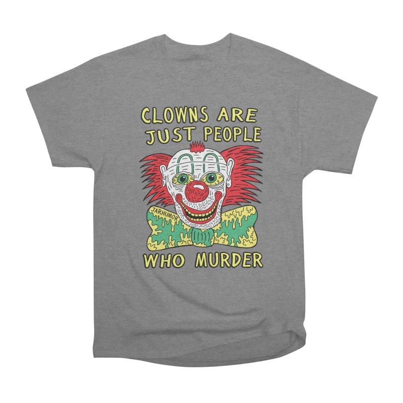 Clown Murder Men's Heavyweight T-Shirt by JARHUMOR