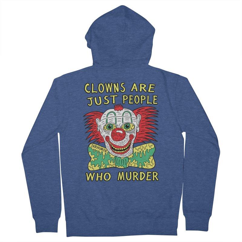 Clown Murder Men's French Terry Zip-Up Hoody by JARHUMOR