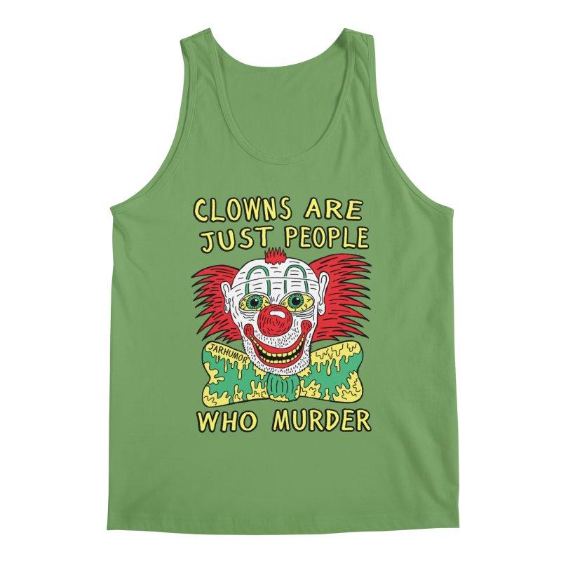 Clown Murder Men's Tank by JARHUMOR