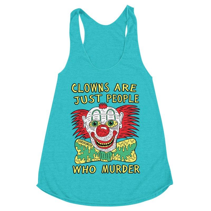 Clown Murder Women's Racerback Triblend Tank by JARHUMOR