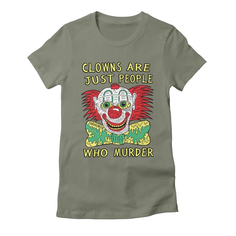 Clown Murder Women's Fitted T-Shirt by JARHUMOR