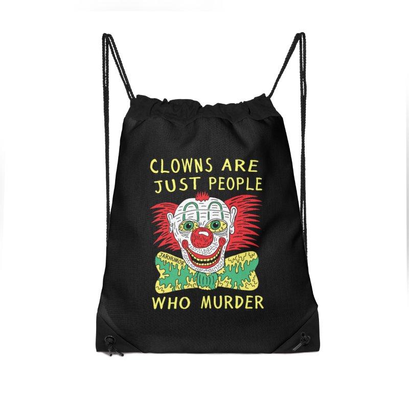 Clown Murder Accessories Drawstring Bag Bag by JARHUMOR