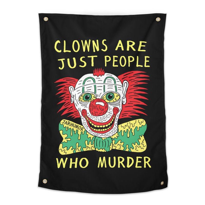 Clown Murder Home Tapestry by JARHUMOR