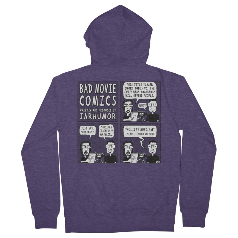 Jive-Ass Holiday Movie Men's Zip-Up Hoody by James A. Roberson (JARHUMOR)
