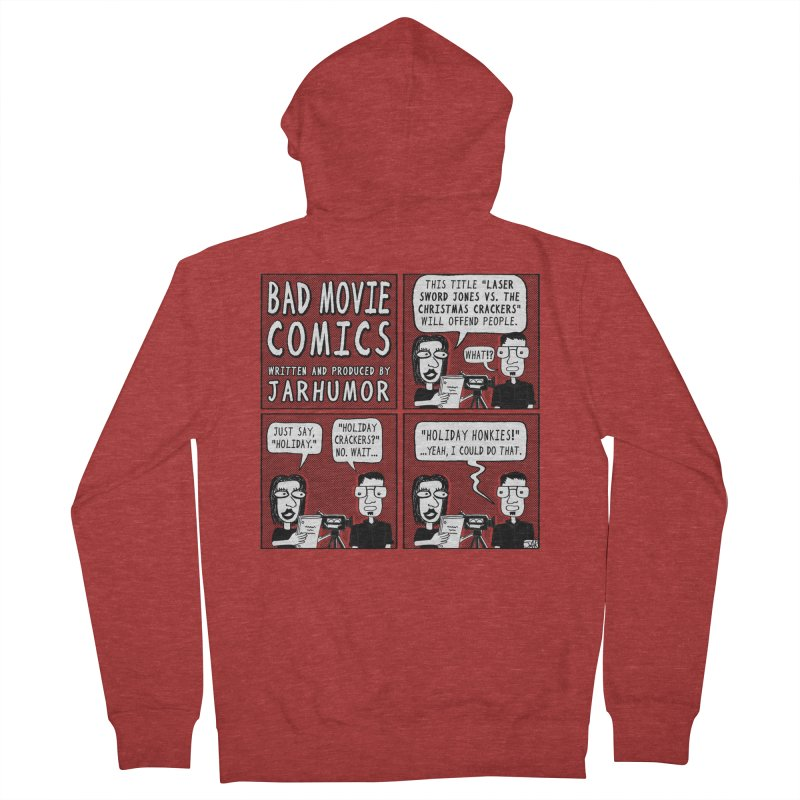 Jive-Ass Holiday Movie Men's French Terry Zip-Up Hoody by JARHUMOR