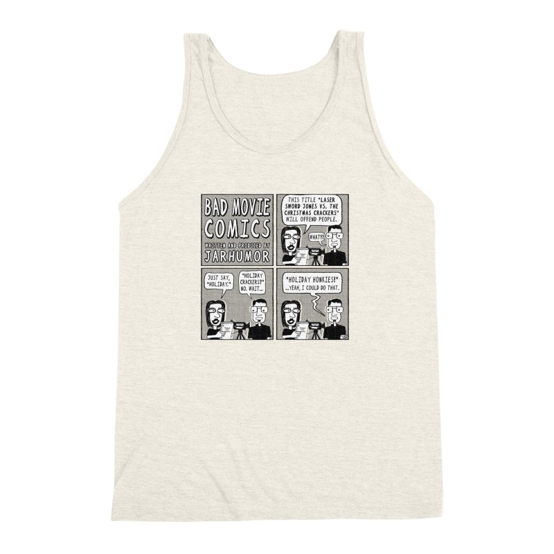 Jive-Ass Holiday Movie Men's Triblend Tank by James A. Roberson (JARHUMOR)