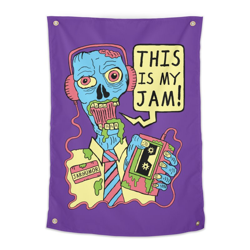 This Is My Jam Home Tapestry by JARHUMOR