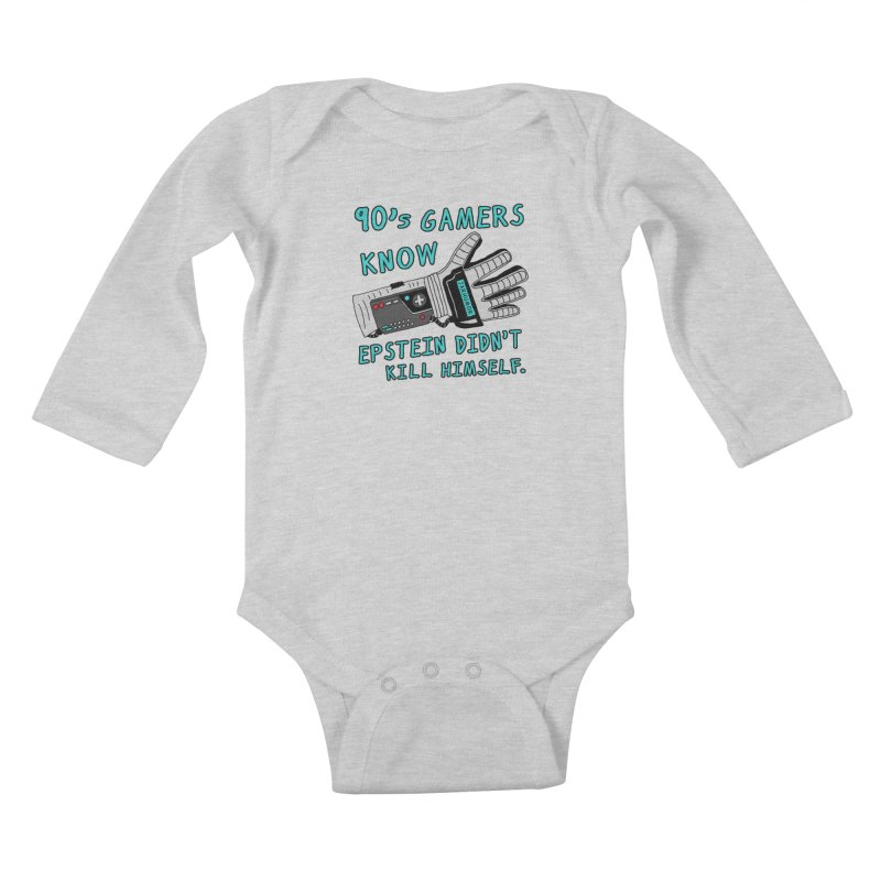 90's Gamer Epstein Kids Baby Longsleeve Bodysuit by JARHUMOR