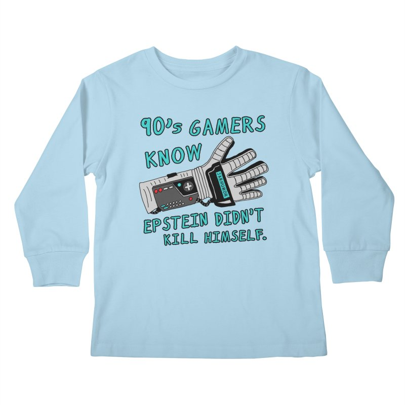 90's Gamer Epstein Kids Longsleeve T-Shirt by JARHUMOR