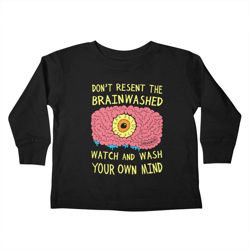 The Brainwashed Kids Toddler Longsleeve T-Shirt by JARHUMOR