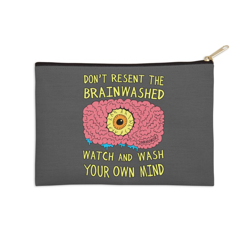 The Brainwashed Accessories Zip Pouch by JARHUMOR