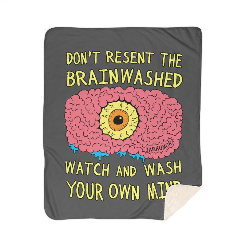 The Brainwashed Home Blanket by JARHUMOR