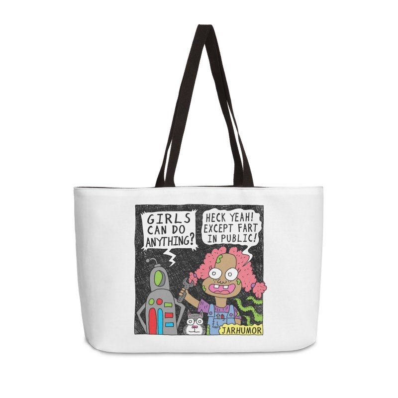 Girls Can't Fart Accessories Bag by JARHUMOR