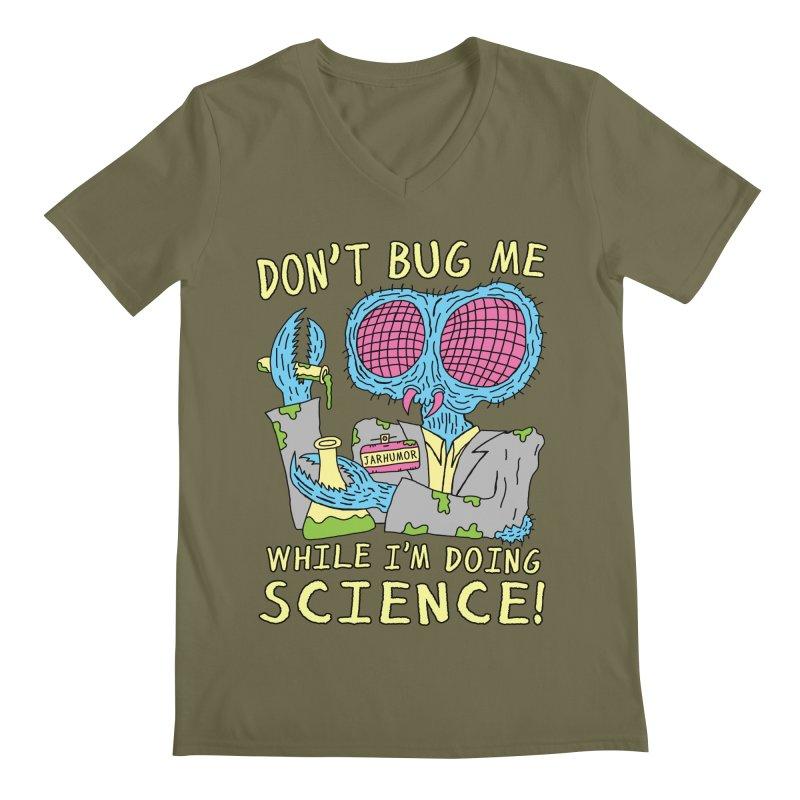 Bug Science Men's Regular V-Neck by JARHUMOR
