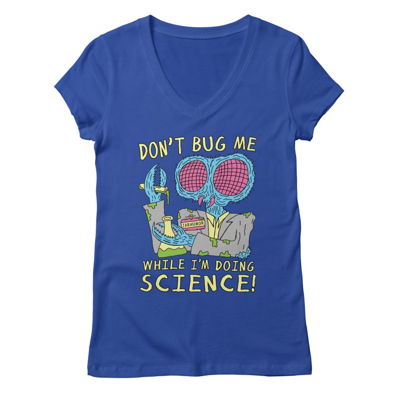 Bug Science Women's V-Neck by James A. Roberson (JARHUMOR)