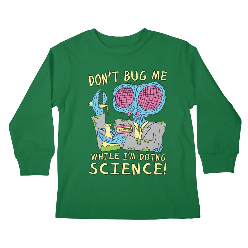 Bug Science Kids Longsleeve T-Shirt by James A. Roberson (JARHUMOR)