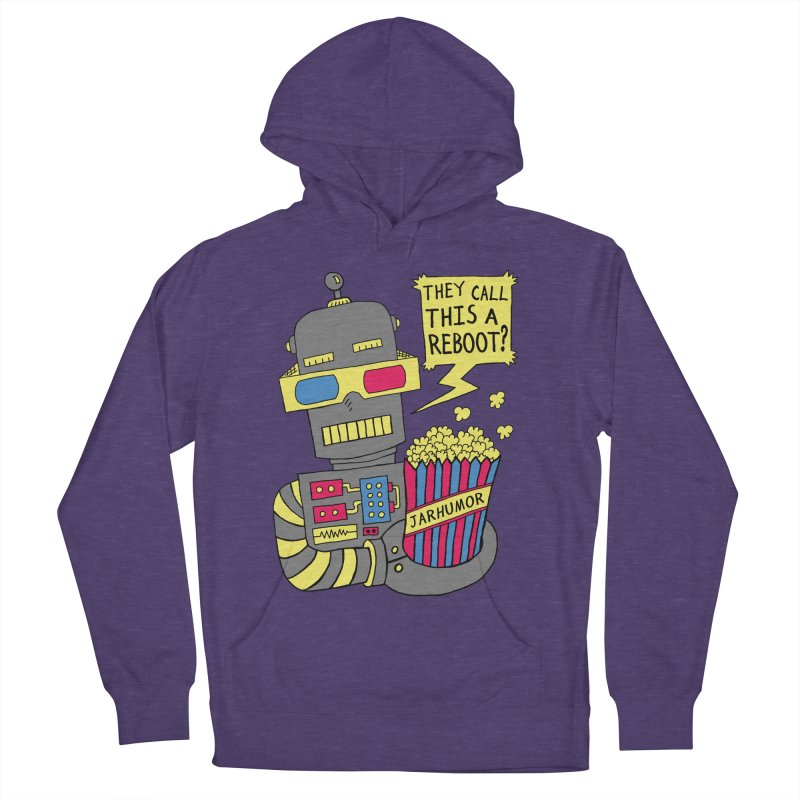 Robot Movie Reboot Women's French Terry Pullover Hoody by JARHUMOR