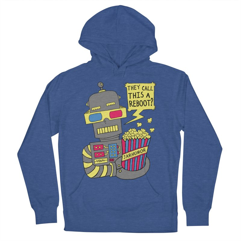 Robot Movie Reboot Men's French Terry Pullover Hoody by JARHUMOR