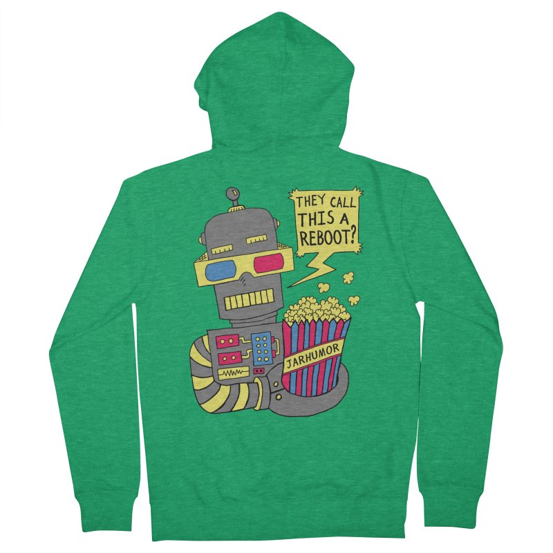 Robot Movie Reboot Men's French Terry Zip-Up Hoody by JARHUMOR